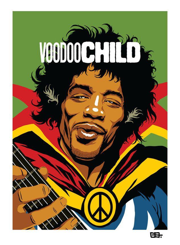 Astros da música reimaginados como super-heróis em belas ilustrações - O designer e ilustrador Butcher Billy transformou lendas da música como Jhonny Cash, Chuck Berry e Jimi Hendrix em super-heróis. Confira suas belas ilustrações.