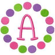 Free Embroidery Design: Mulit Circles Font Frame - I Sew Free