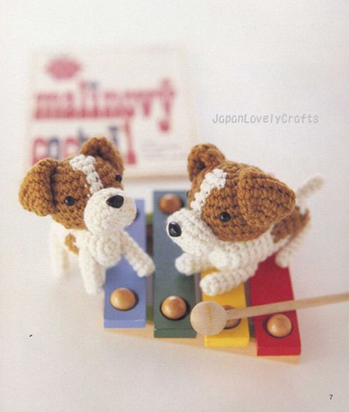 AMI AMI DOGS 2 BY MITSUKI HOSHI -  JAPANESE AMIGURUMI CROCHET PATTERN BOOK FOR DOGS - LOVELY & KAWAII AMIGURUMIS, CROCHETING ANIMAL 5 by JapanLovelyCrafts, via Flickr