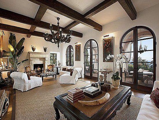 Diandra Douglas (Michael's ex) home. Stunning living room!