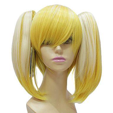 Hoogwaardig Synthetisch Japans Kanekalon licht blond lange rechte Lolita Pruik – EUR € 44.64
