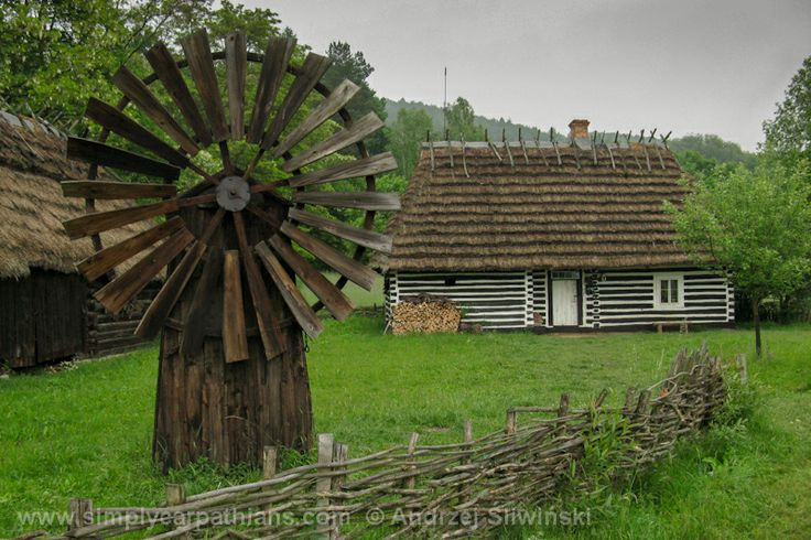 Old windmill. Open air museum in Podkarpacie Province in Poland. www.simplycarpathians.com