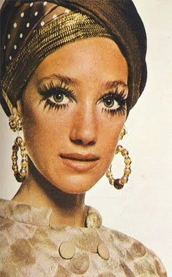 Marisa Berenson by David Bailey, 1968 #turban // lashes, earrings, TURBAN!!: