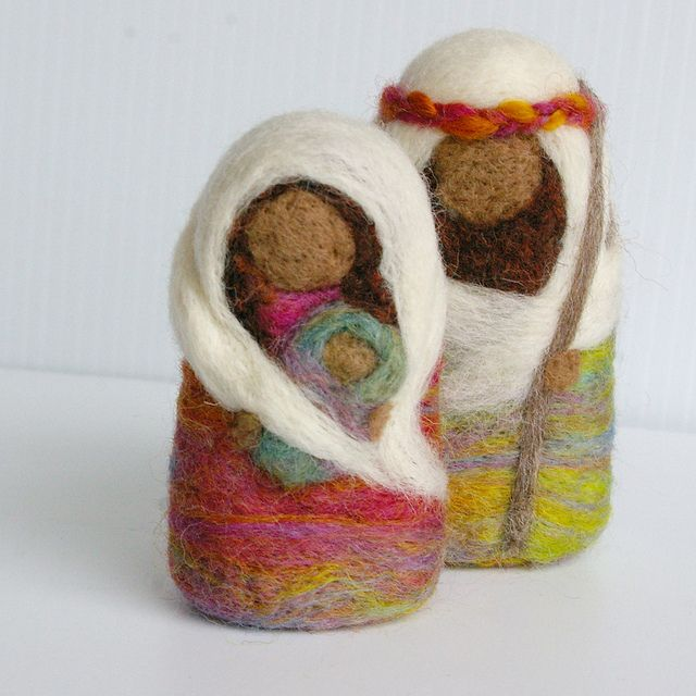 Holy Family in felted Wool by Beneath the Rowan Tree by BeneathTheRowanTree, via Flickr