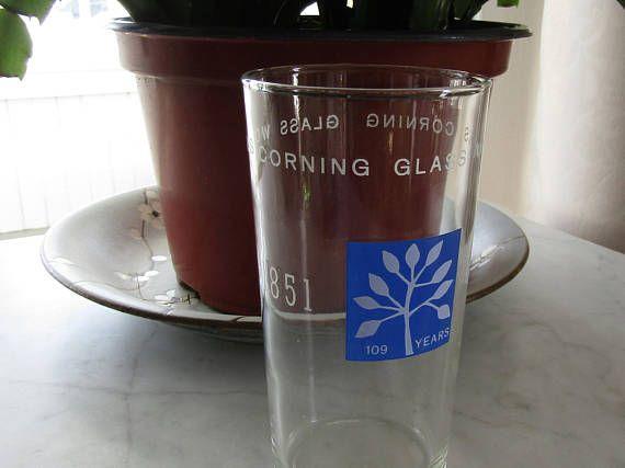 Corning Glass Works  Commemorative Glass  Corning Memorabilia