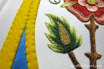 Mission Rose Goldwork Embroidery