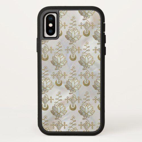 Pastel Pearl Unalome Lotus Symbol iPhone X Case