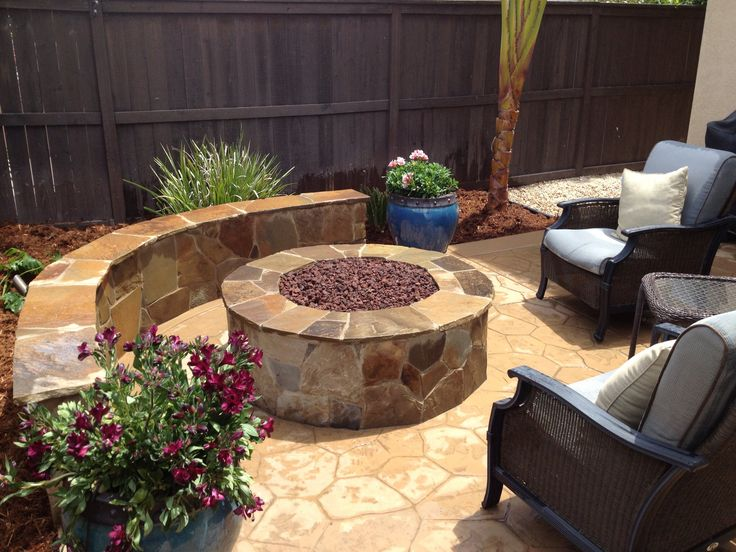 Natural Gas Fire Pit With Seat Wall Cameron Flagstone