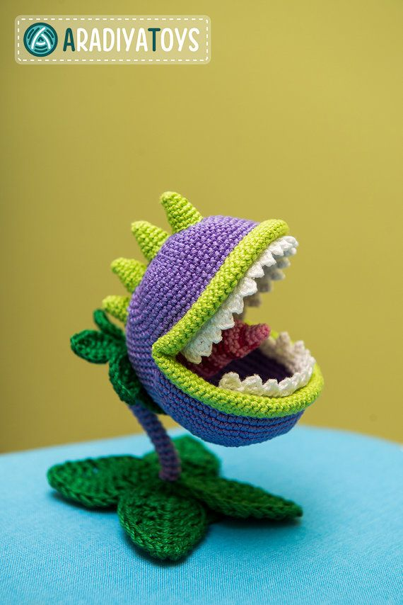Crochet Patrón de Chomper de Plants vs Zombies archivo por Aradiya, $2.99