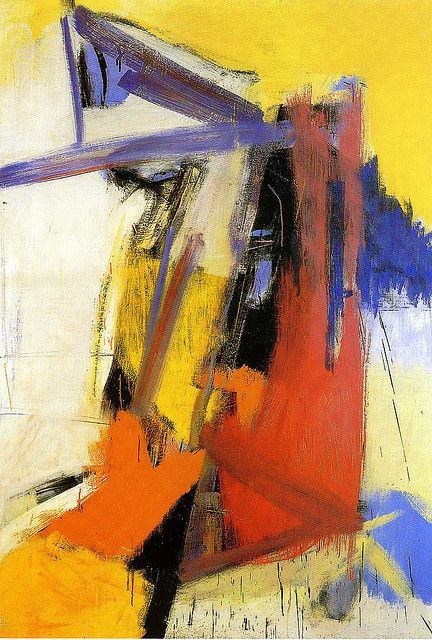Franz Kline, Yellow, Orange and Purple, 1955 on ArtStack #franz-kline #art