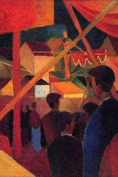 Tightrope, by August Macke