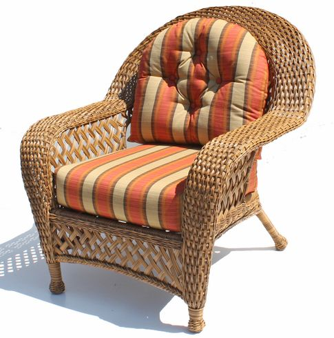 Amazing Wicker Furniture Cushions   Chair Set
