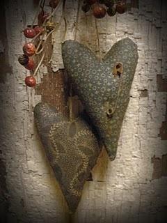 Small primitive hearts...