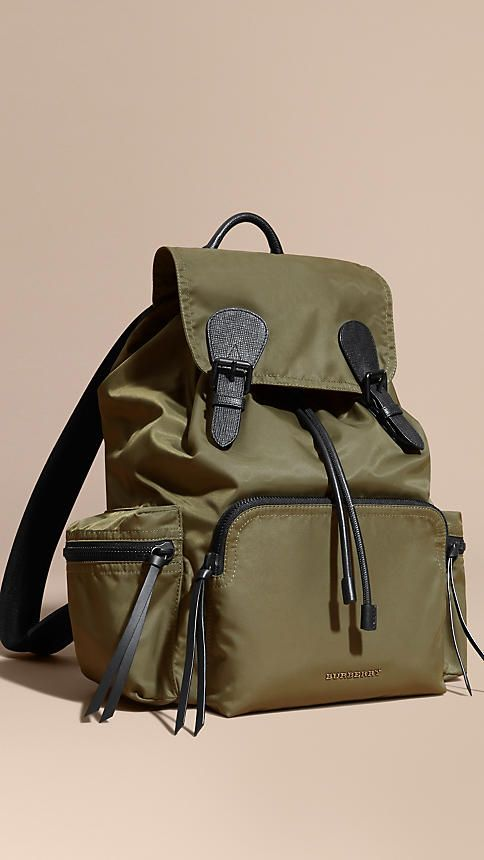 The Large Rucksack in Technical Nylon and Leather - 1