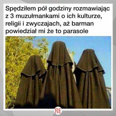 Mężczyźni przebierają się w burki - muzułmanie dostają szału. - Wykop.pl