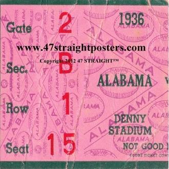Alabama football gifts, unique Alabama football gifts, Alabama football gift ideas, football stocking stuffers, football gift ideas, Alabama drink coasters, Alabama football coasters. Set of 6 different ceramic Alabama Football Ticket Coasters.™ $44.99