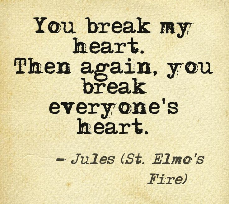 St. Elmo's Fire... <3 Love this movie! <3 My first blind date....it has been 27 years of marriage now!! <3
