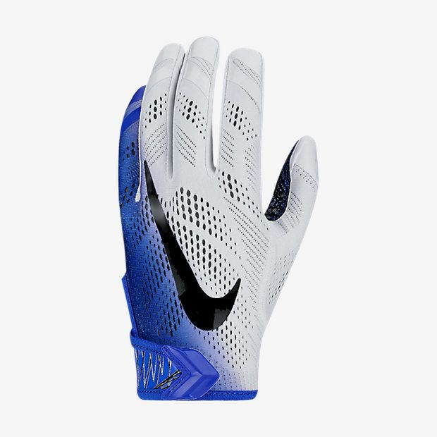 COMPLETE BALL CONTROL The Nike Vapor Knit Men's Football Gloves are designed to allow for natural range of motion and better ball control on the field. Benefits Knit fabric helps keep your hands cool Gusset system in the fingers delivers superb range of motion MagniGrip palm sticks to the ball for better control Pre-curved fingers provide a more natural fit and less bunching Adjustable VELCRO ® brand fastener wrist strap provides a custom fit Product Details NOCSAE approved Fabric: 65%…