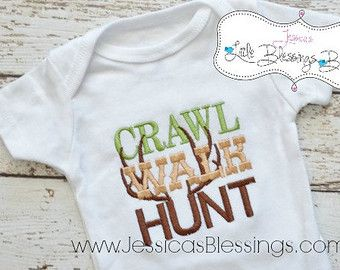 Duck Hunting Nursery | Crawl walk hunt - duck - boy hunting - hunting - camo - bodysuit ...