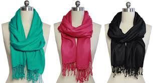 Solid Colors  pashmina scarves