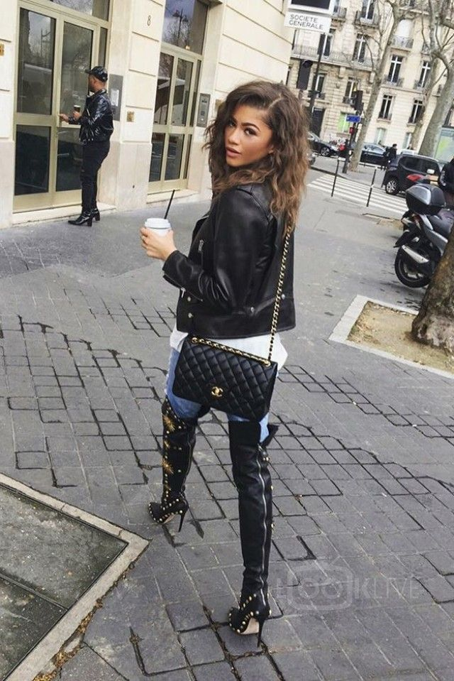 How to Wear Thigh-High Boots: 15 Chic Celebrity Outfits