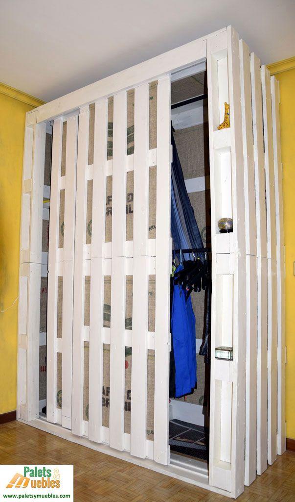 M s de 25 ideas incre bles sobre armario hecho con pal s for Bricolaje zapatero madera