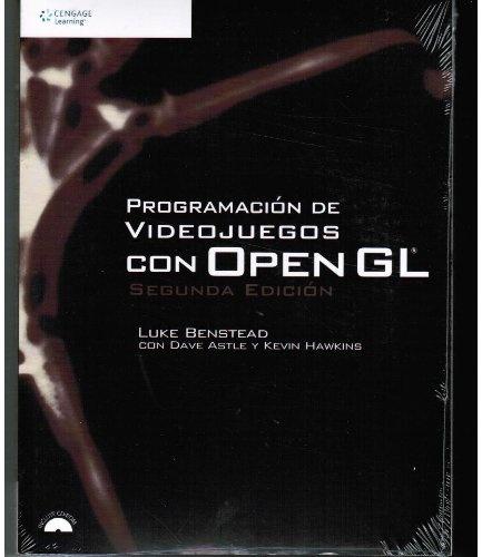 PROGRAMACION DE VIDEOJUEGOS CON OPEN GL  Autores: BENSTEAD LUKE ASTLE DAVE , HAWKINS KEVIN  Se se sente cómodo programando en C++ e comprende de xeito básico os conceptos das matemáticas tridimensionais, a segunda edición de Programación de videoxogos con OpenGL permitiralle empezar a programar gráficos en 3 D para xogos usando a API de OpenGL
