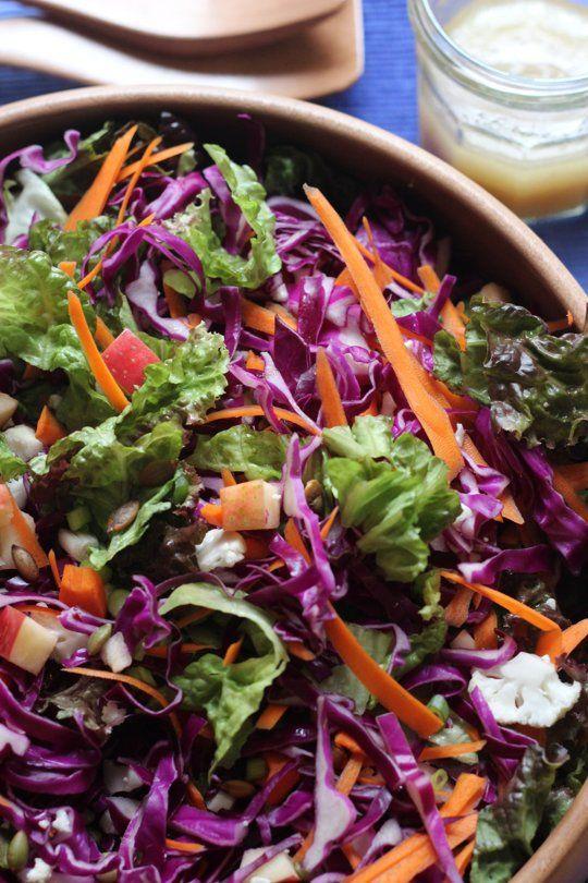 Apple Cabbage Salad with Cider Vinaigrette