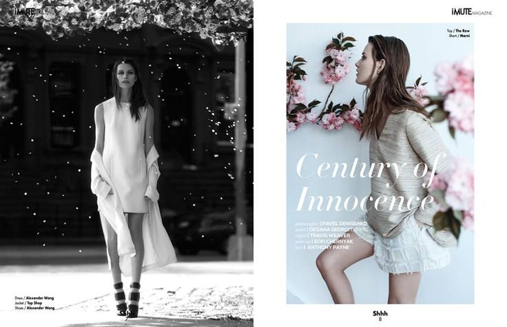 Century of Innocence Editorial - iMute Magazine Summer Issue #11 2015 Photographer | Pavel Denisenko Model | Oksana Gedroit @ IMG Models Worldwide Stylist | Travis Weaver Make up | Sofi Chernyak Hair | Anthony Payne