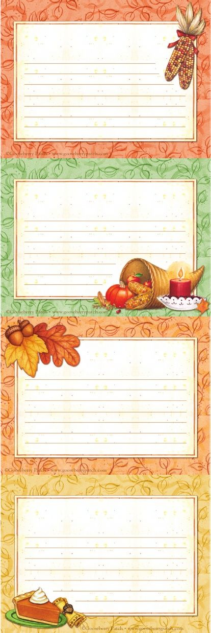 Gooseberry Patch Gratitude Cards Print out & have guests fill in their thanks.