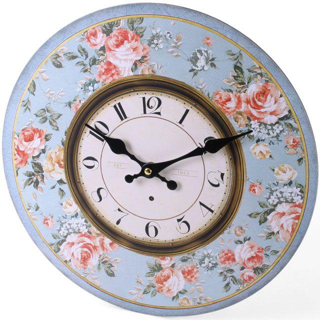 Floral Clock (measures approx. 34cm across)