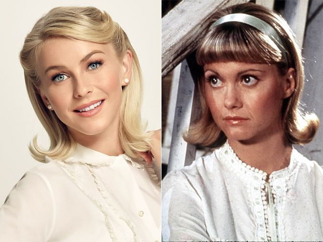 "Comparing the Casts: 1978's Grease vs. 2016's Grease: Live | JULIANNE HOUGH VS. OLIVIA NEWTON-JOHN | While no one can top Newton-John's rendition of ""Hopelessly Devoted to You,"" Hough was pitch-perfect as both the Sandra Dee Sandy and post-makeover Sandy. Not to mention, she made the character her own with those killer dance moves."
