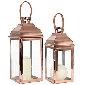 Set of 2 Copper Lanterns #kaleidoscope #home #trend