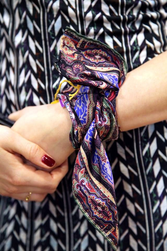 """""""A classic scarf to be kept forever & worn in many different ways""""  We've styled today's #AScarfADay by Etro on the wrist. How would you wear yours? Shop Etro here: http://www.liberty.co.uk/fcp/categorylist/designer/etro #DesignerScarves"""
