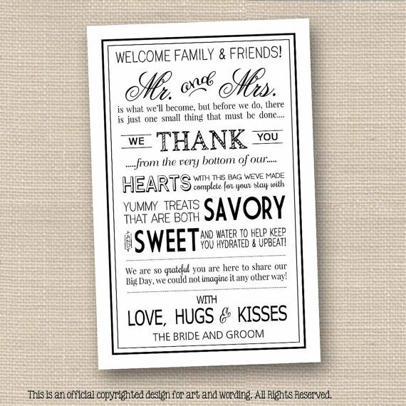 Wedding Welcome Letters Printable // Black Instant Download // Wedding Welcome Bags for Out of Town Guests