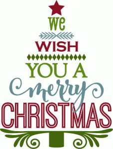 Silhouette Design Store - View Design #70550: we wish you a merry christmas - tree