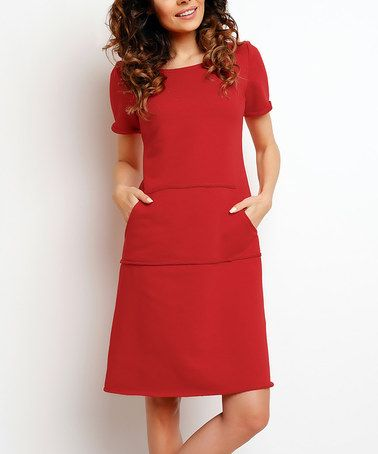 Look at this #zulilyfind! Red A-Line Dress #zulilyfinds