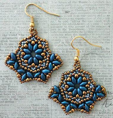 Pattern Review: Bohemian Beauty Earrings