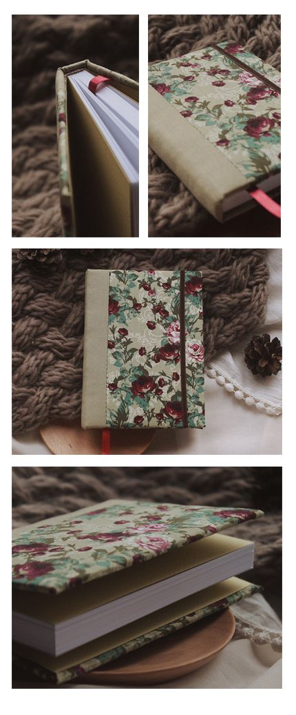 Handmade sketchbook with covers made of cotton | Sketchbook A6 ON SALE