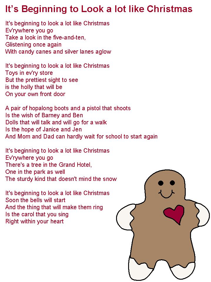 It's Beginning to Look a Lot Like Christmas lyrics