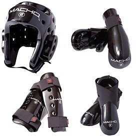Belts and Sashes 73981: Macho Dyna 7 Piece Sparring Gear Set With Shin.-Color: Black-Size: Child-Large -> BUY IT NOW ONLY: $114.85 on eBay!