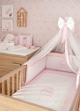 Baby Oliver Dreamland baby bedding embroidered collection with original Swarovski Crystals