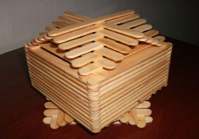 Uso do Palito de Picolé Para Fazer Caixinhas