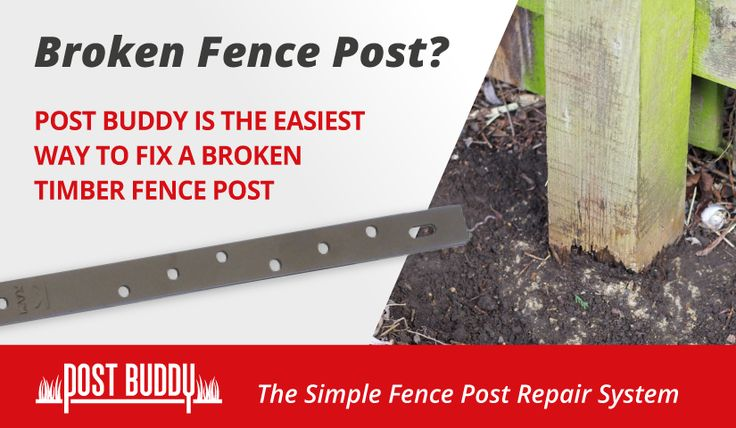 Fence Post Repair Fix Broken Timber Fence Posts Quick
