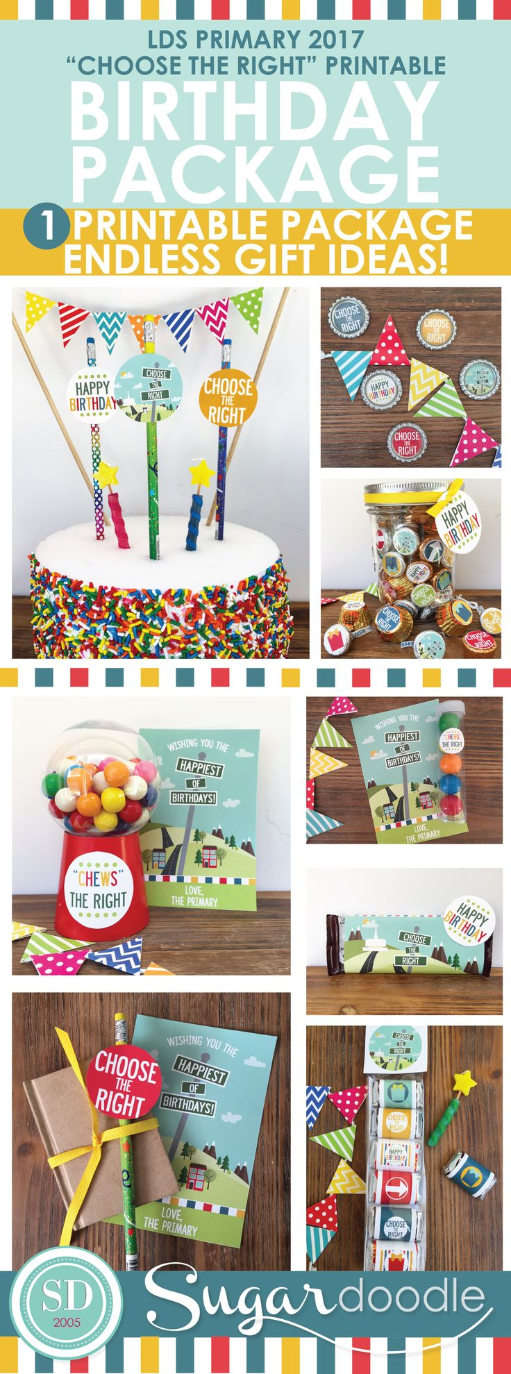 """2017 LDS Primary Birthday Gift Ideas, Choose the Rights, """"Chews"""" the Right."""