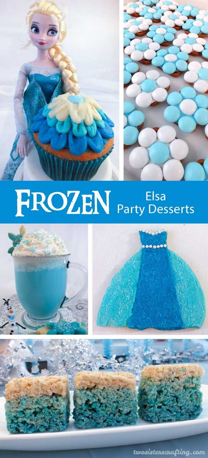 On the search for fun Frozen Birthday Party Ideas?  Look no further, we have some great ideas for Elsa Party Desserts that are so delicious and super easy to make.  We have all the step by step directions you'll need to create these gorgeous sparkly blue