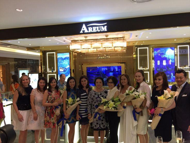 AREUM's star ambassadors and Mrs. Vicky Kim and Mr. David Kim