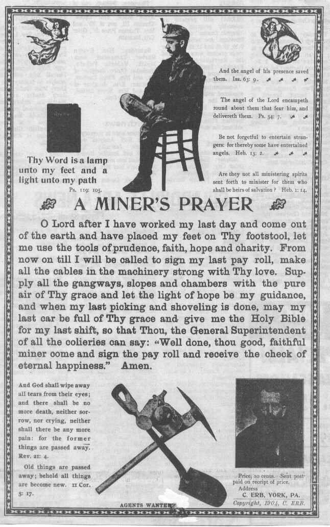 A miner's prayer