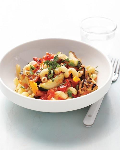 Grilled Ratatouille Pasta: Dinner, Grilled Ratatouille, Pasta Recipes, Food, Ratatouille Pasta, Eggplant, Martha Stewart
