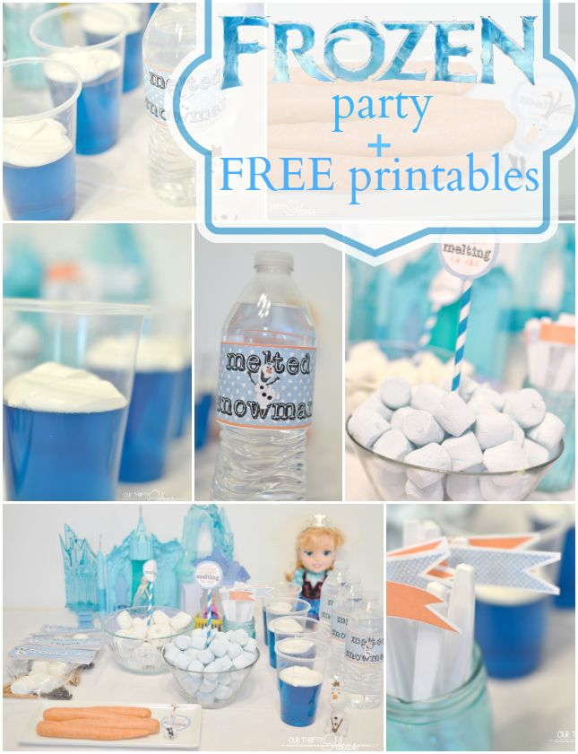 Our Thrifty Ideas | FROZEN movie release with a party and Free printables | http://www.ourthriftyideas.com